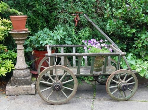 antique large working dog cart hand cart