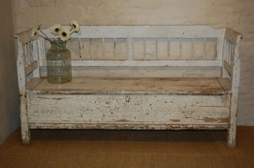 Astonishing Antique Pine Settle Bench With Storage 157412 Theyellowbook Wood Chair Design Ideas Theyellowbookinfo