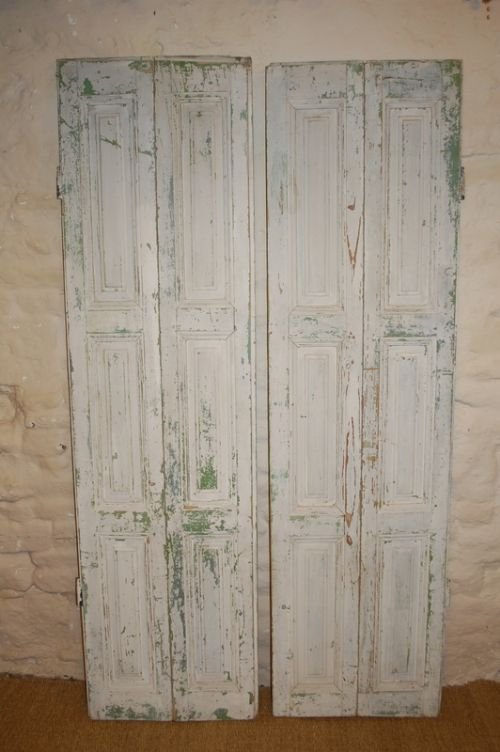 antique french pine window shutters