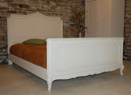 antique french provencal style double bed