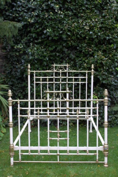 victorian classic brass and iron double bed