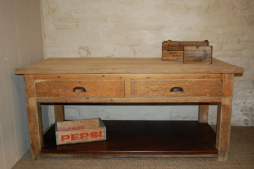 Antique Pine Kitchen Table/ Island Table / Baker\'s Table ...