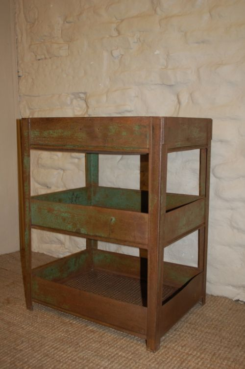 industrial metal three tier shelf mill tidy