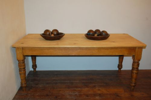 Antique Victorian Pine Farmhouse Dining Kitchen Table 1880