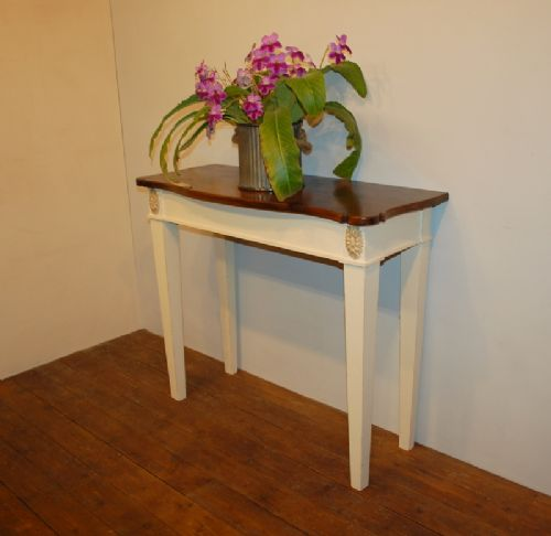 reclaimed timber console table regency style