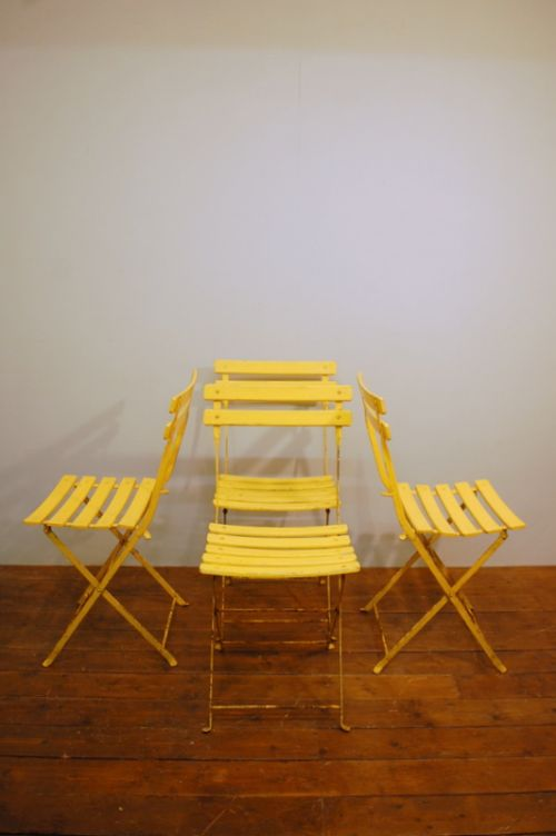 Vintage Set Of Four French Folding Garden Chairs 1950 581634 Www