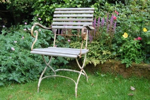 antique french folding garden arm chair - Antique French Folding Garden Arm Chair 51598 Www.cottage