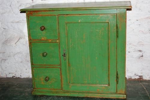 rustic storage cupboard in original paint