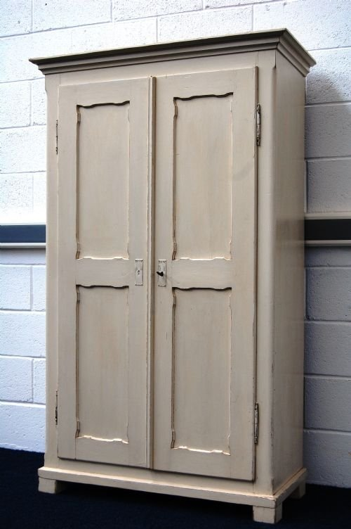 antique painted pine country linen storage cupboard - Antique Painted Pine Country Linen / Storage Cupboard 49692 Www