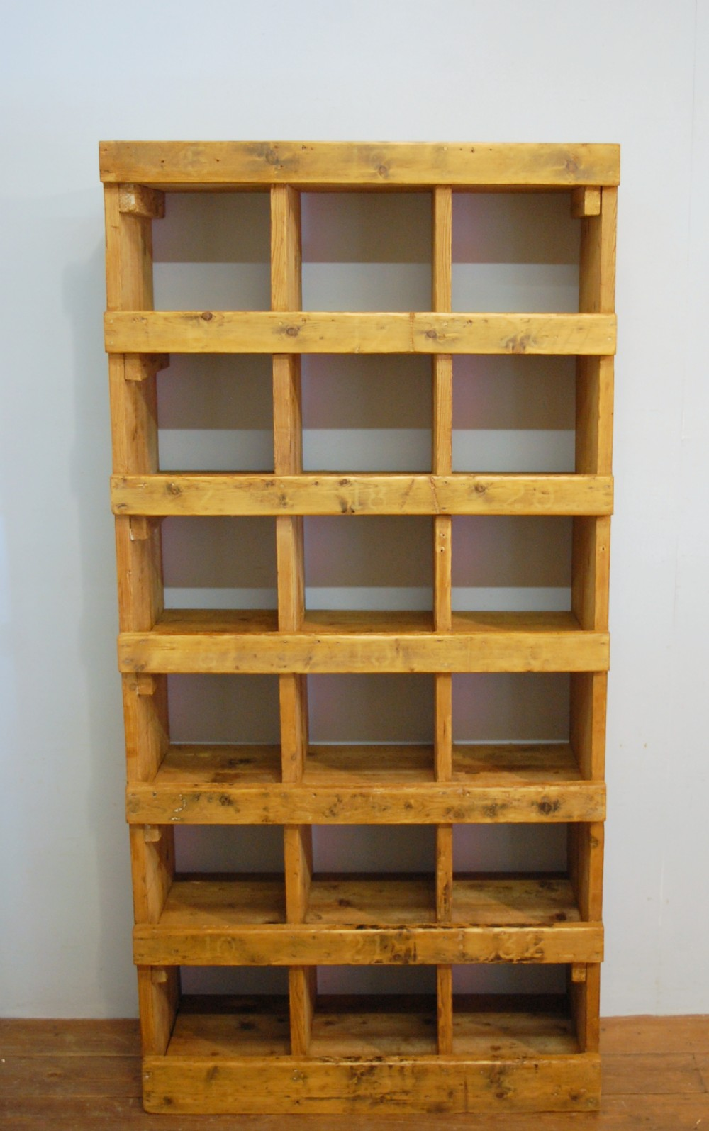 Magnificent Antique Pine Victorian Pigeon Hole Shelf 1880 Cubby Hole Download Free Architecture Designs Remcamadebymaigaardcom