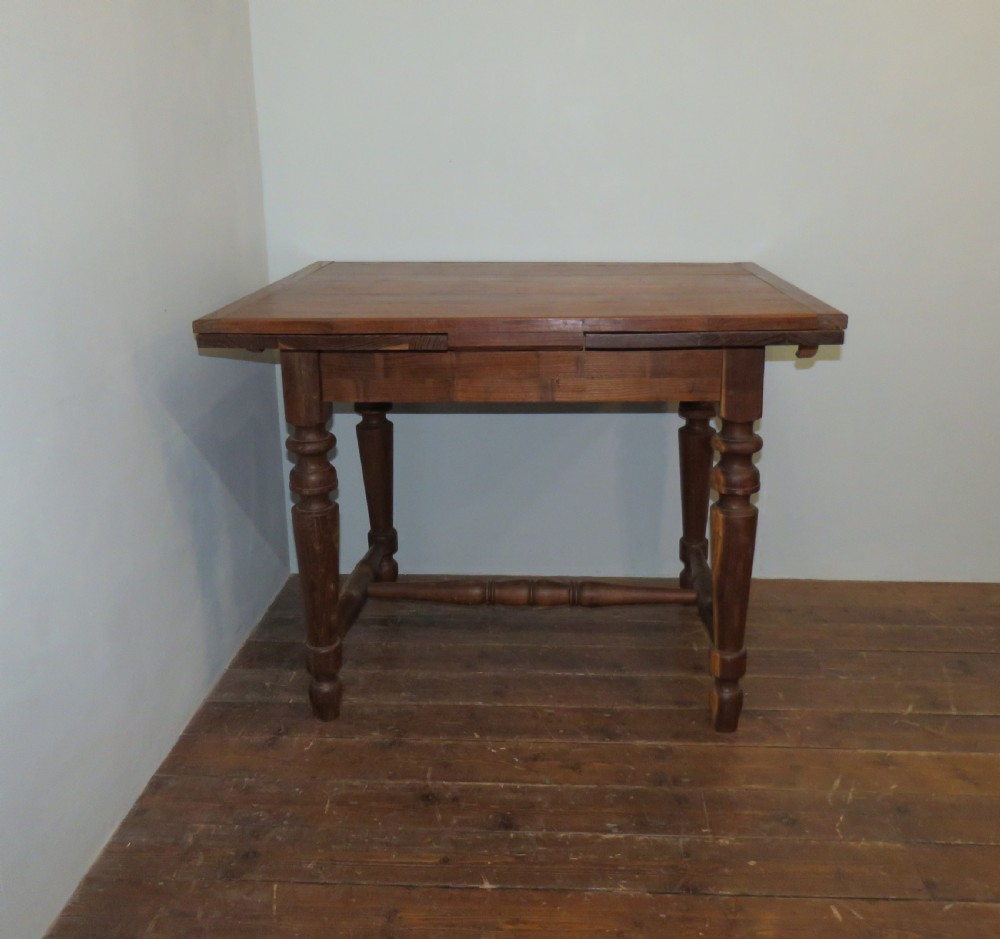 antique mulberry country extension draw leaf table 1860