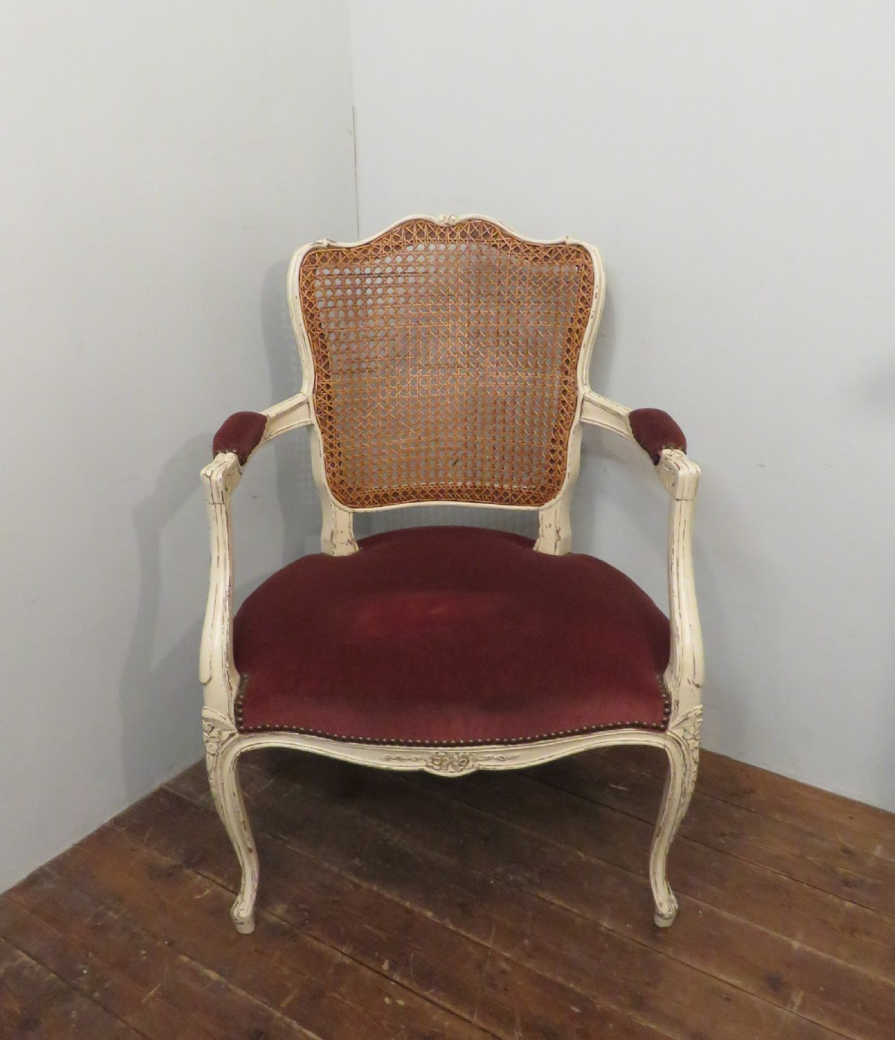 antique french bergere and oak fauteuil armchair 1900 painted
